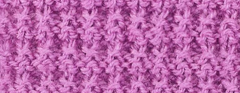 Example of the Interrupted Rib Knitting Stitch Pattern